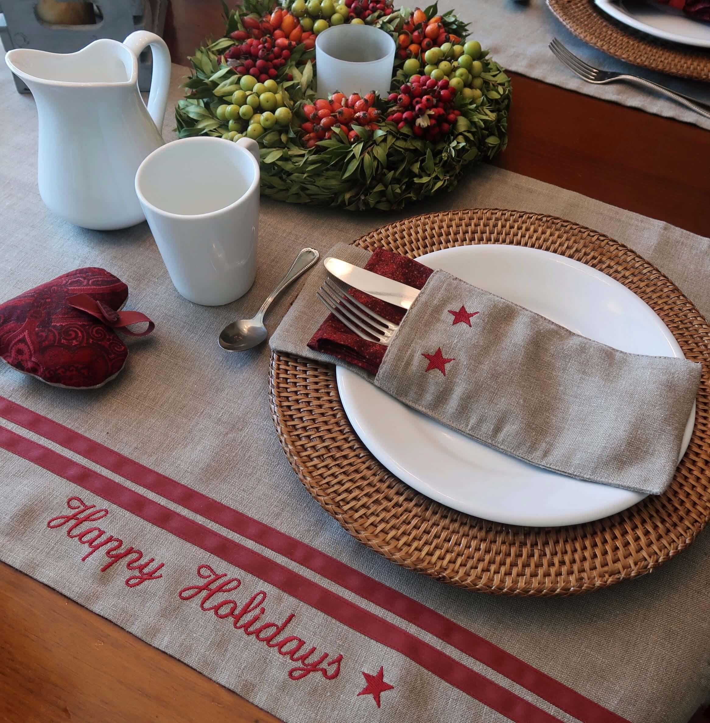 decorar mesas de navidad